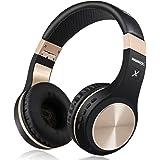 Bluetooth Headphones, Riwbox XBT-80 Folding Stereo Wireless Bluetooth Headphones Over Ear with Microphone and Volume Control,