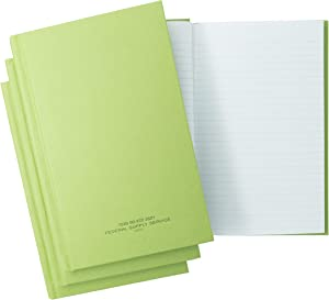 "(3 Pack) Tacticai Green Military Log Book, Record Book, 5.25"" x 8"", Record Keeping, Supply Chain, Inventory, Training, Maintenance, and Field Operations, Rugged Hard Cover, NSN 530-00-222-3521"
