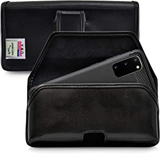 product image for Turtleback Holster Designed for Galaxy S20 (2020) Belt Case Black Leather Pouch with Executive Belt Clip, Horizontal Made in USA