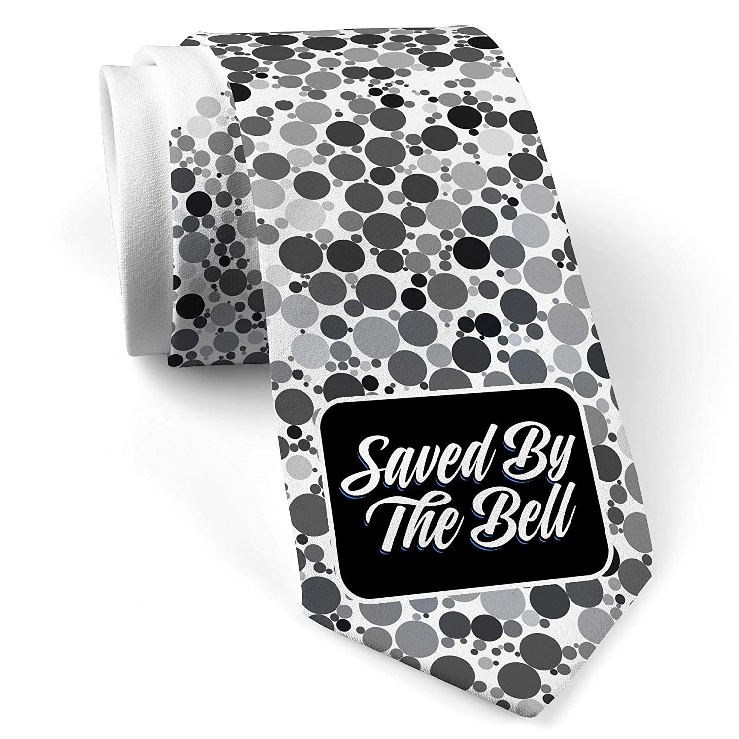 Neck Tie With Classic Design Saved By The Bell White With Color