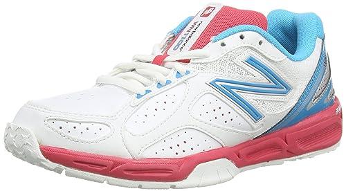 New Balance Wn1100r2 Netball, Zapatillas de Voleibol para Mujer, Blanco (White/Blue), 42.5 EU: Amazon.es: Zapatos y complementos