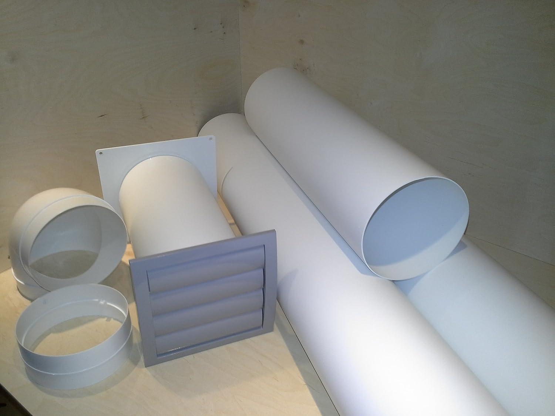 VentilationNord Mauerkasten NW 150 Dunstabzug Teleskop Rohr mit Rohrset und Bogen S2-R-MKWSKQLG150