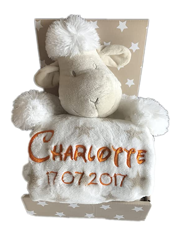 Niños Baby Set con nombre y fecha de nacimiento (Edelweiss ...