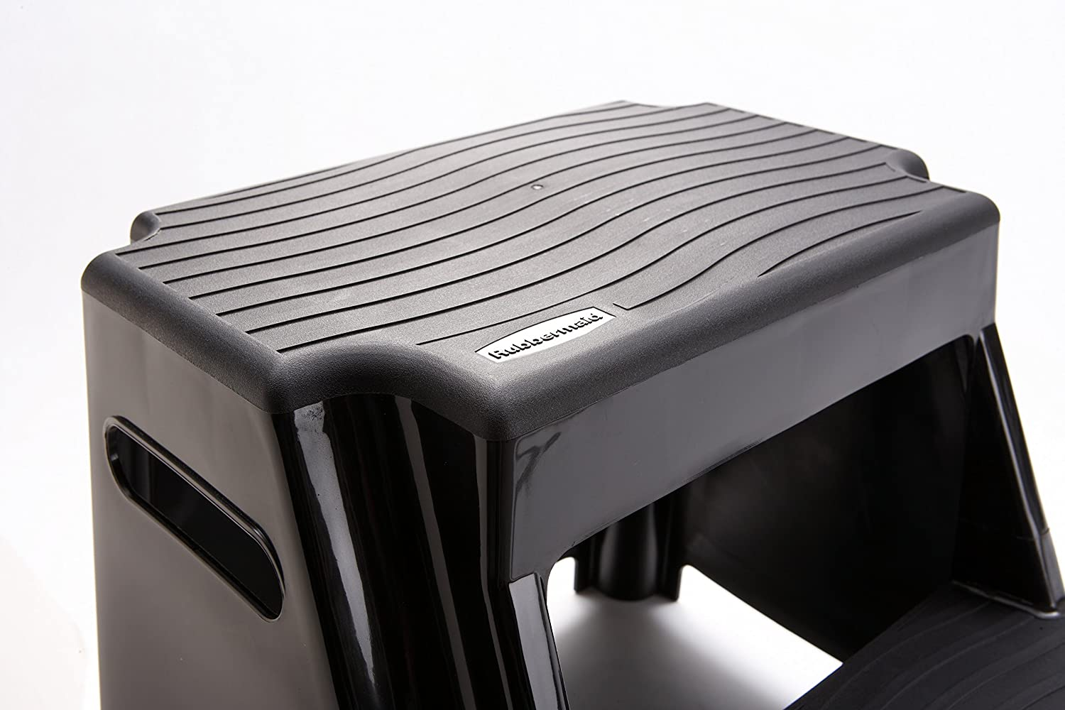 Amazon.com Rubbermaid RM-P2 2-Step Molded Plastic Stool with Non-Slip Step Treads 300-Pound Capacity Black Finish Home Improvement  sc 1 st  Amazon.com : rubber maid step stool - islam-shia.org