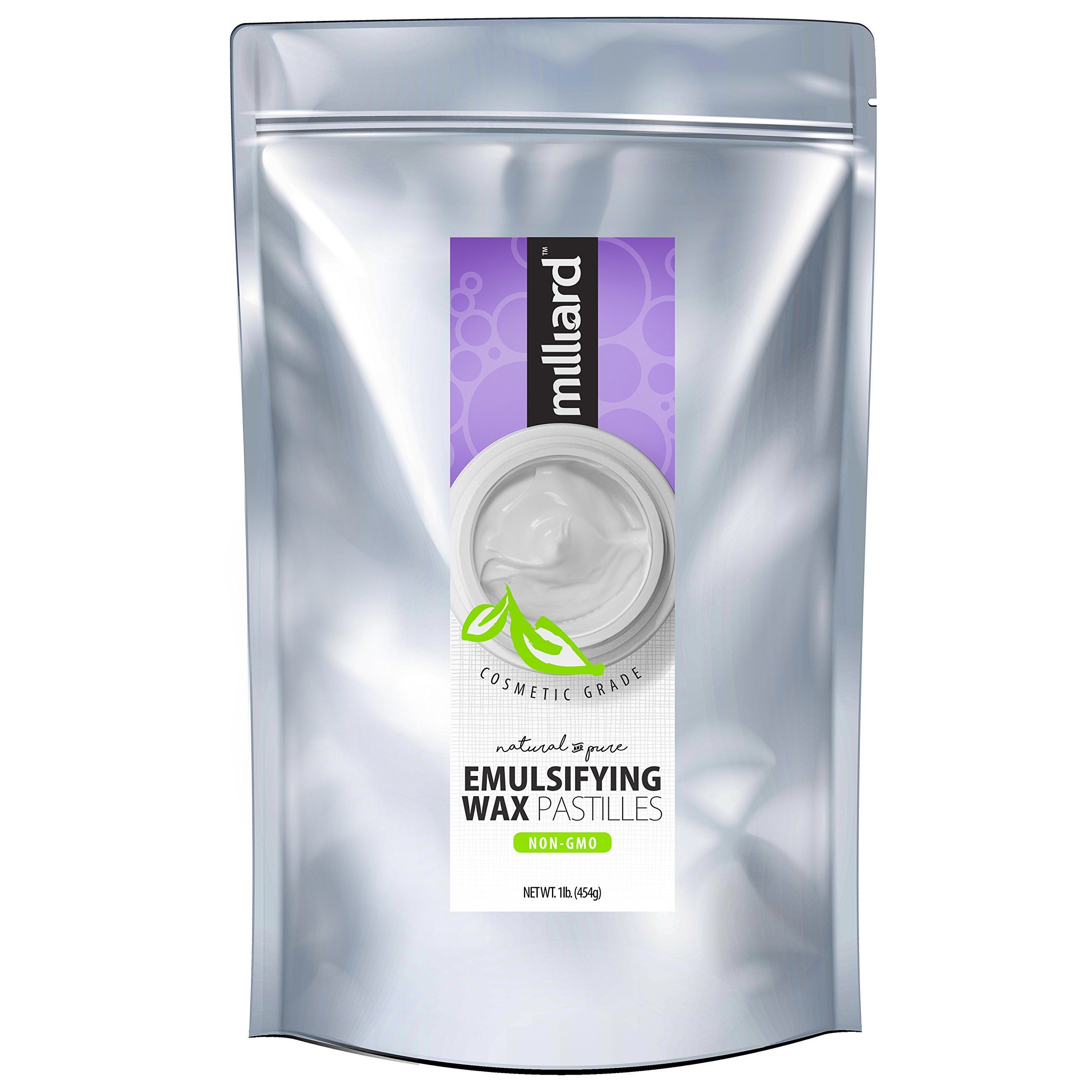 Milliard NON-GMO Emulsifying Wax Pastilles NF –16 OZ. Resealable Freshness Storage Bag