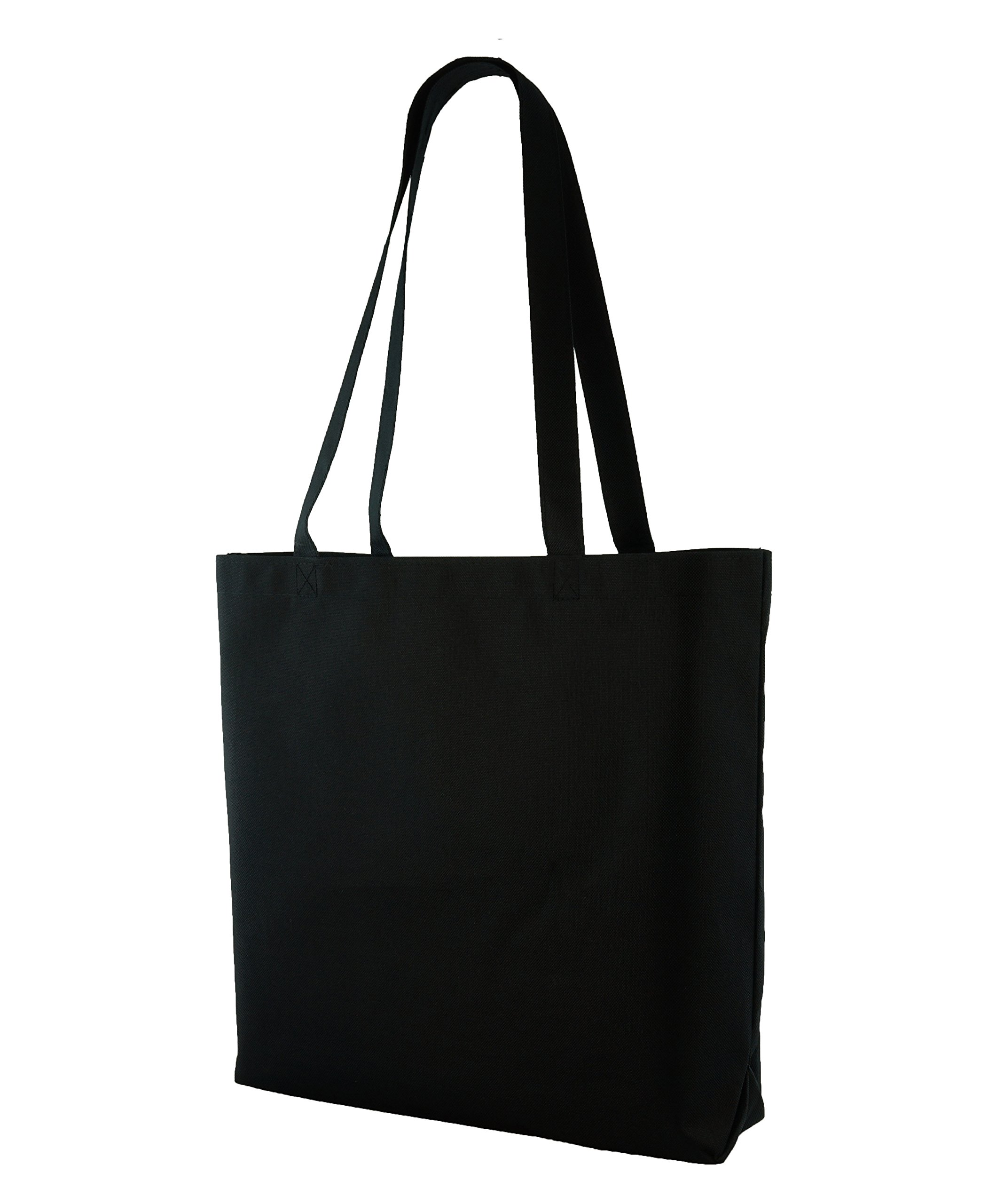 Large Shopping Tote with Shoulder Length Handles (Black)