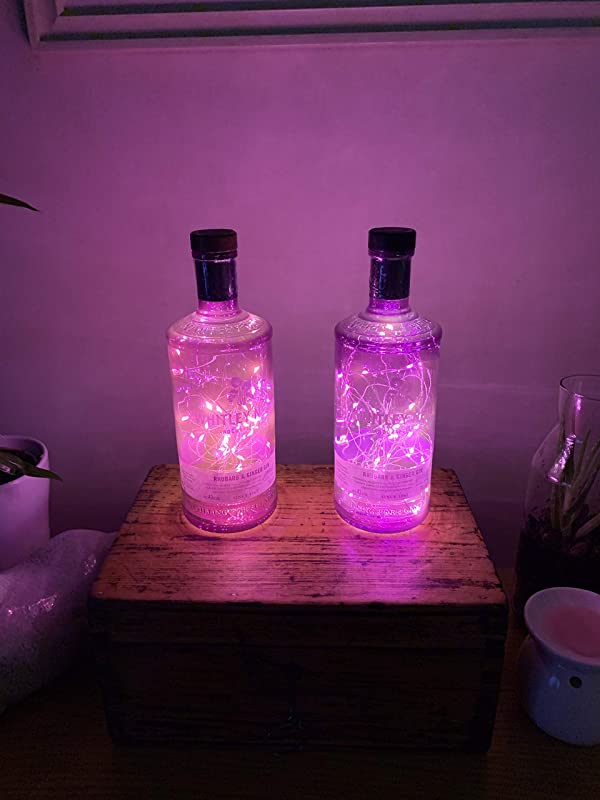 Whitley Neill Rhubarb /& Ginger Gin Bottle Lamp Light 50 Micro LED