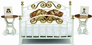 Lundby Smaland Dollhouse Brass Bed Set