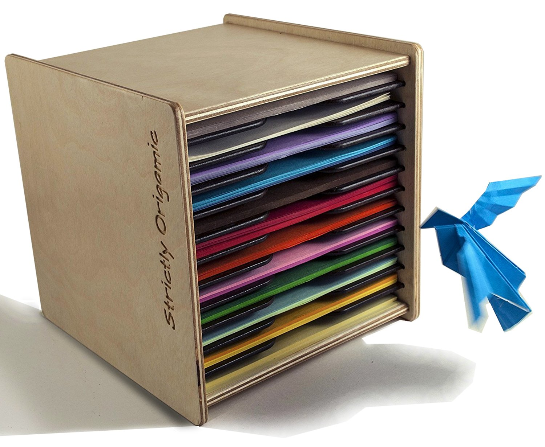 Origami Paper Case Box Organizer - for 6 inch Square Sheets - by Strictly Origamic by Strictly Origamic