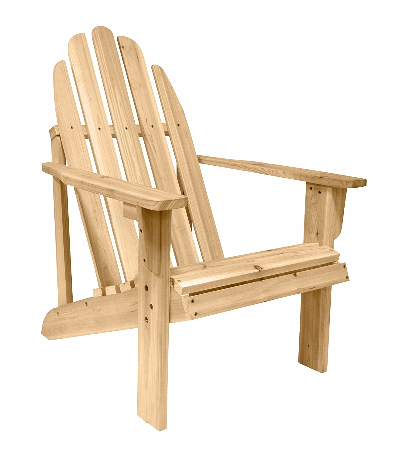 Amazon Shine pany Catalina Adirondack Chair Natural