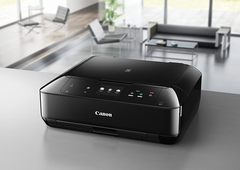 schwarz Canon Pixma MG7550 Farbtintenstrahl-Multifunktionsger/ät Drucker, Kopierer, Scanner, USB, WLAN, LAN, NFC, Pixma Cloud-Link
