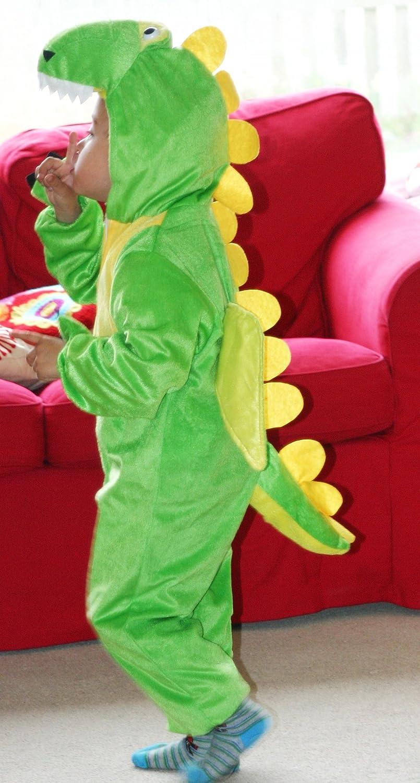 Costume Intero per Bambini e Bambine 110cm Vestito in Maschera Intero Taglia Media per Bambini di 3-5 Anni Fun Play Costume da Dinosauro per Bambini