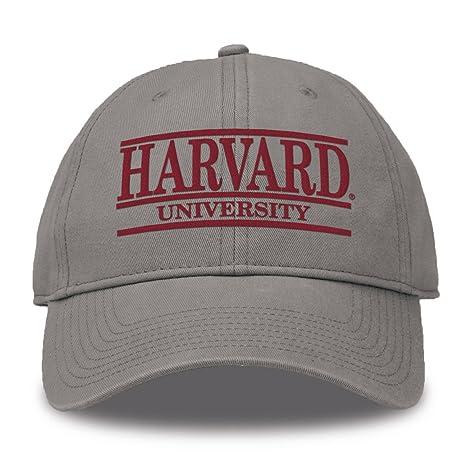 sports shoes edf97 fd7ad The Game NCAA Harvard Crimson Bar Design Twill Hat, Gray, Adjustable
