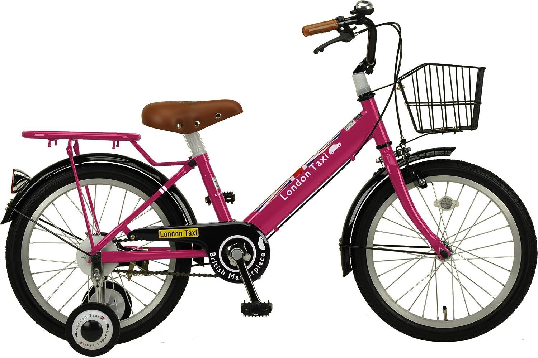 ジェフリーズ 自転車 子供用 16インチ ロンドンタクシー 補助輪 バスケット 標準装備 B07478T6TW 16インチ ピンク ピンク 16インチ