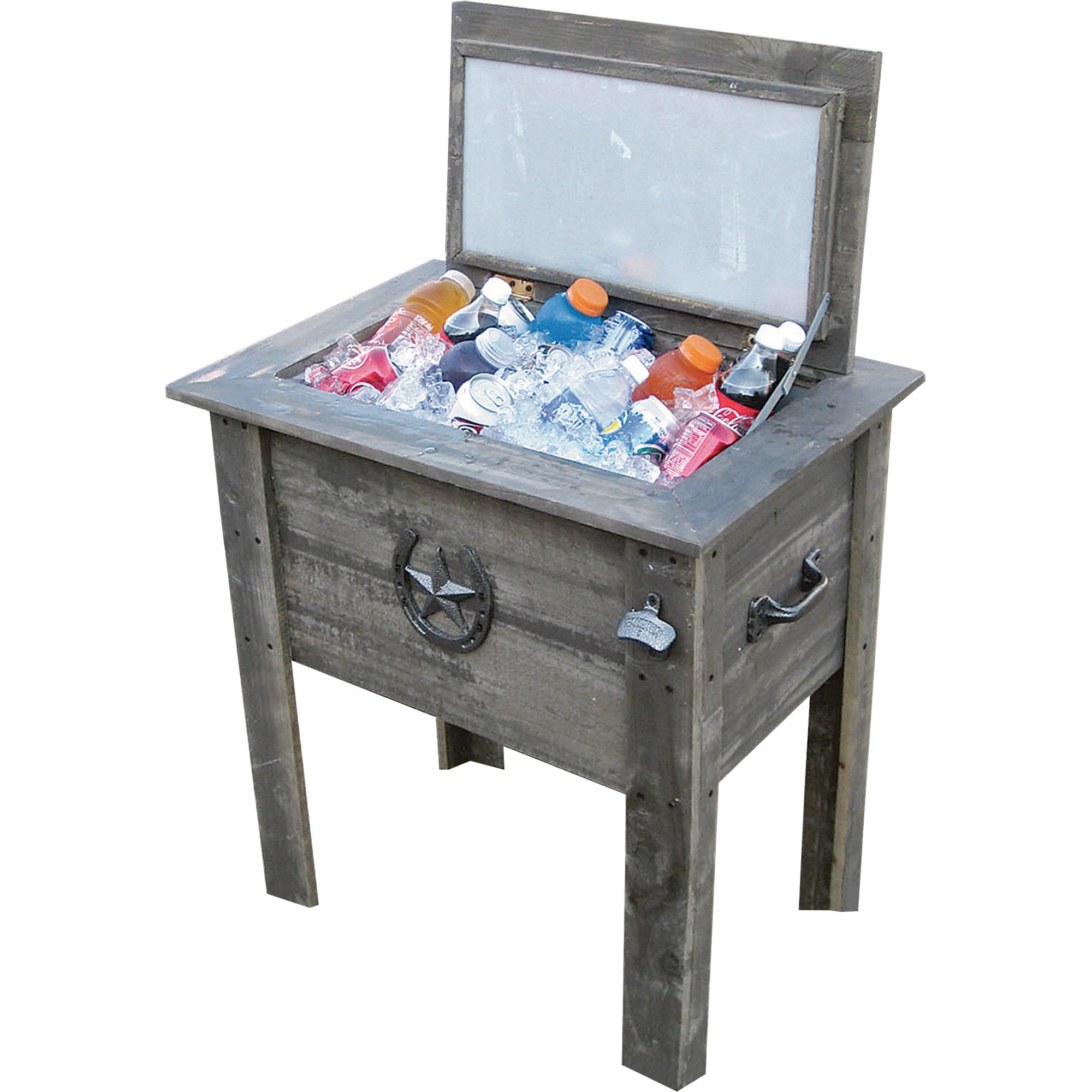 Leigh Country TX 93728 Cooler with Grey Wash Stain on Pine Wood, 54-Quart by Leigh Country