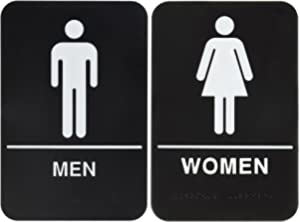 bundle 2 items men and women restroom sign blackwhite ada