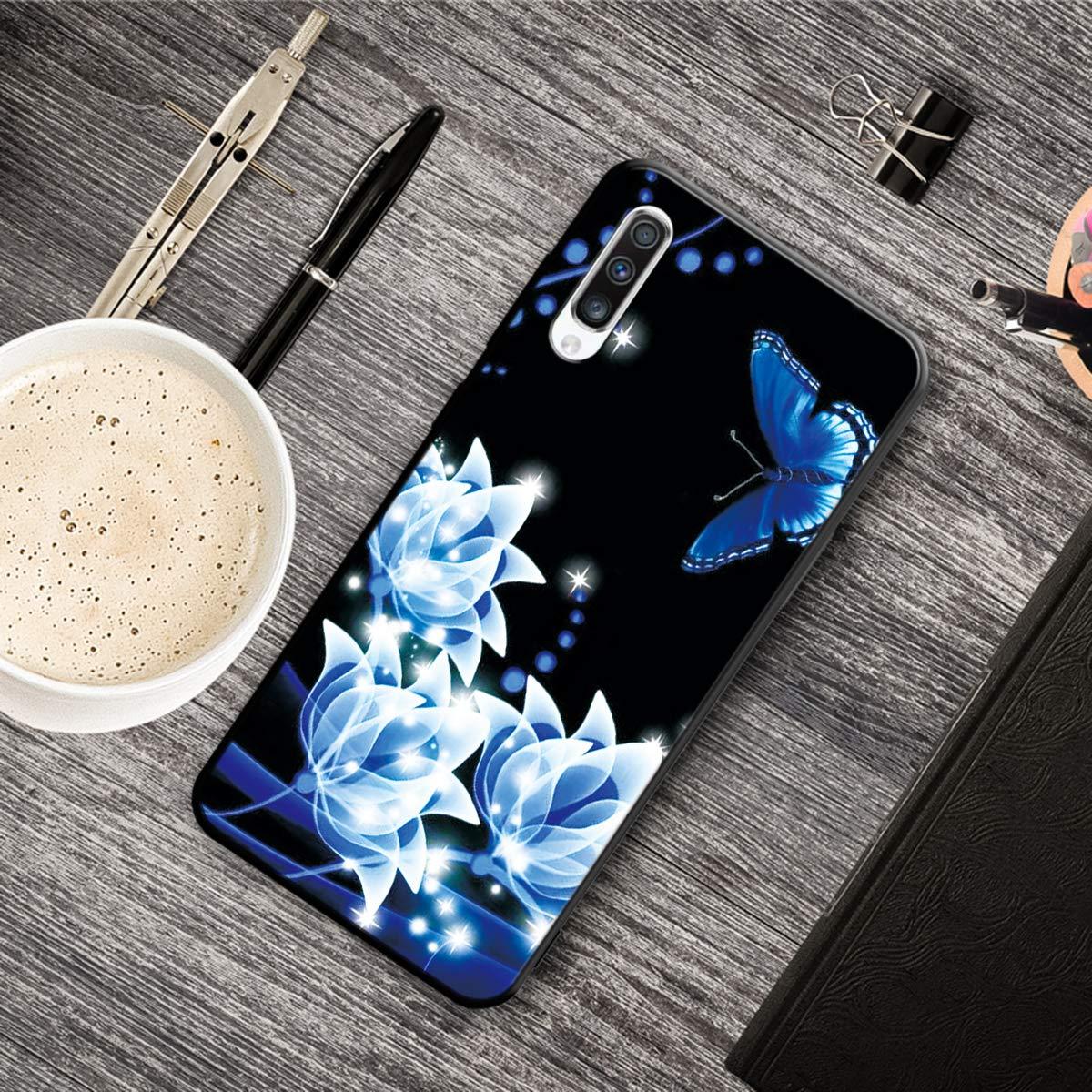 Ultra D/ünn Slim Weich TPU f/ür Samsung A50,Kreative Durchsichtiges Klar Transparent Flexible 3D Flower Cartoon Gel Gomma Sparkle Bling Glitter Silikon Schutz Handy Bumper