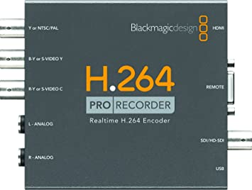 Amazon Com Blackmagic Design H 264 Pro Recorder Distributes H 264 Video Files To Websites Youtube Iphone Ipad Captures From All Popular Video Formats Electronics