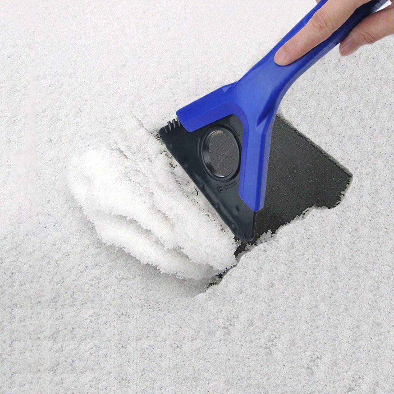 Graceme Auto eiskratzer Eisschaber scheibenwischer Schneeschaufel Schnee entfernen Wischen enteisen entfrosten Tool 4 in 1