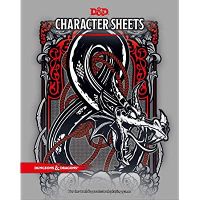 Dungeons & Dragons - Character & Spell Sheets with Premium Folder (5th Edition): Toys & Games