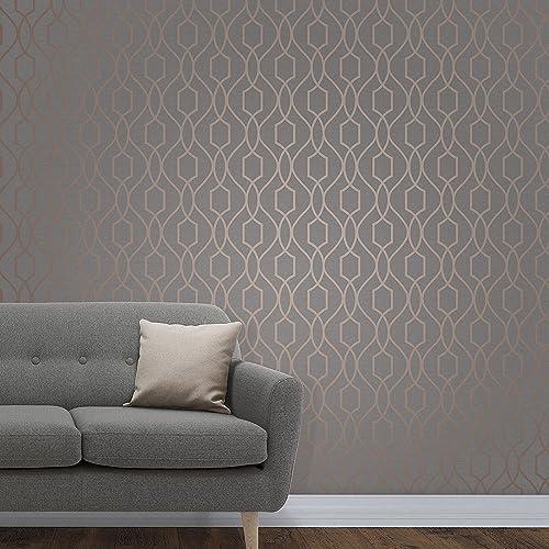 Apex Geo Wallpaper Rose Gold: Metro Prism Geometric Triangle Wallpaper