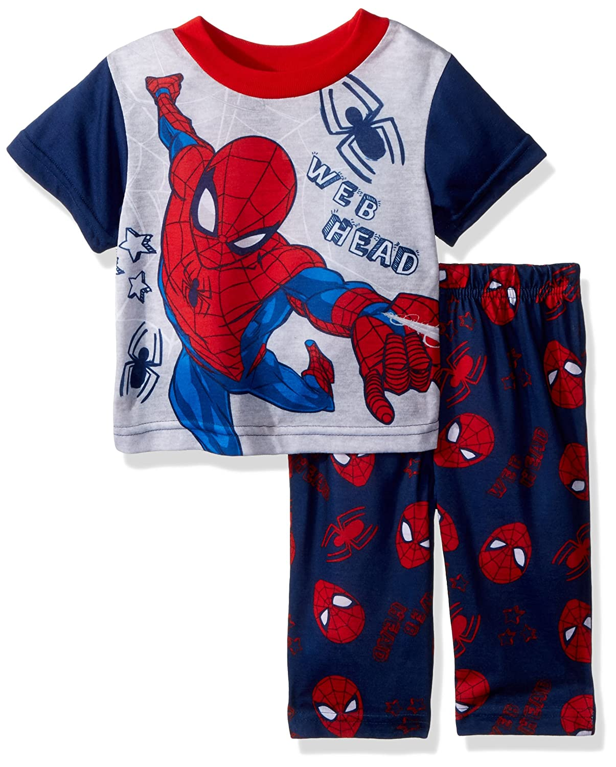 Spiderman Baby Boys 2-Piece Pajama Set 18M 21SM027YSLZA-P6 Navy Web