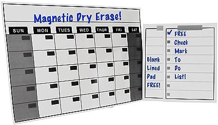 Amazon Com Magnetic Refrigerator Dry Erase Calendar Magnet