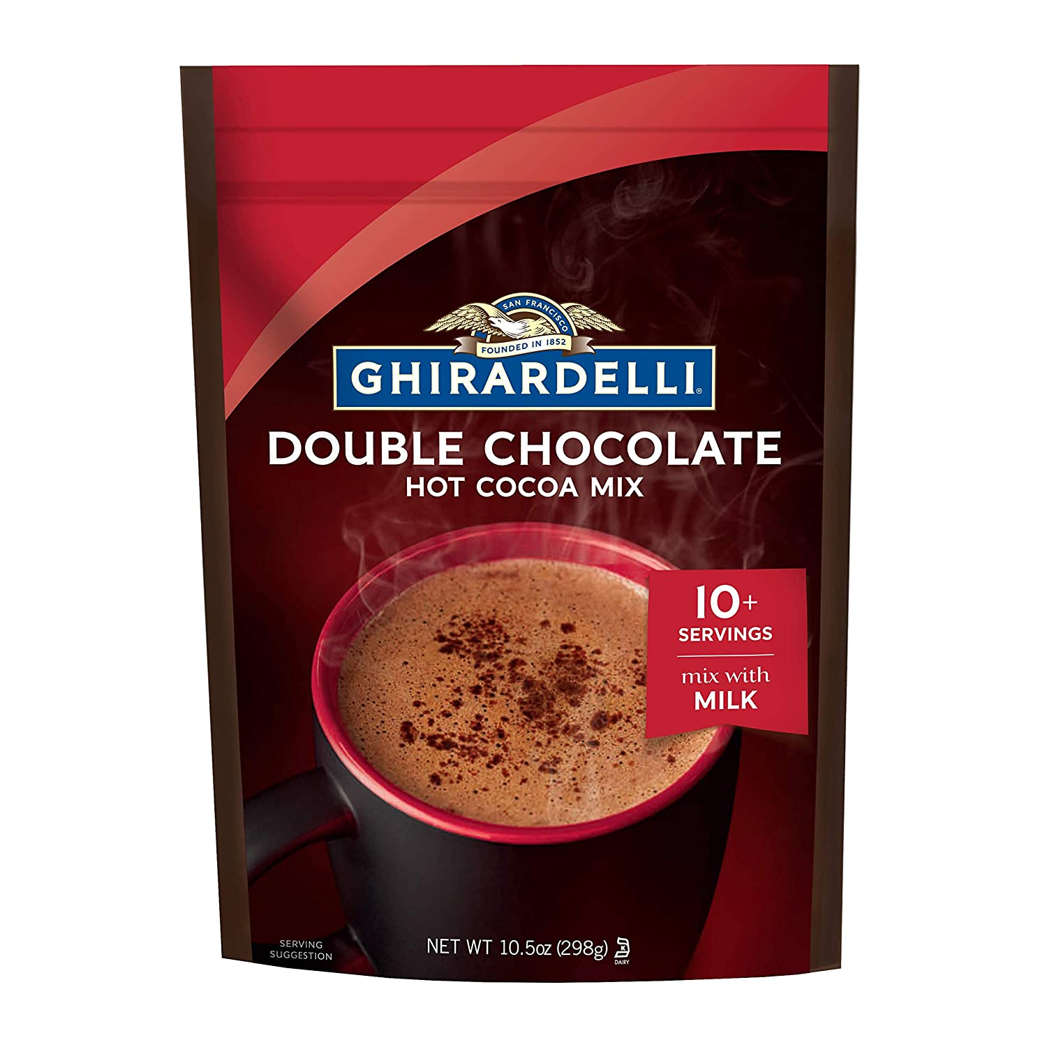 Ghirardelli Double Chocolate Premium Hot Cocoa - 10.5 oz. (298g)​