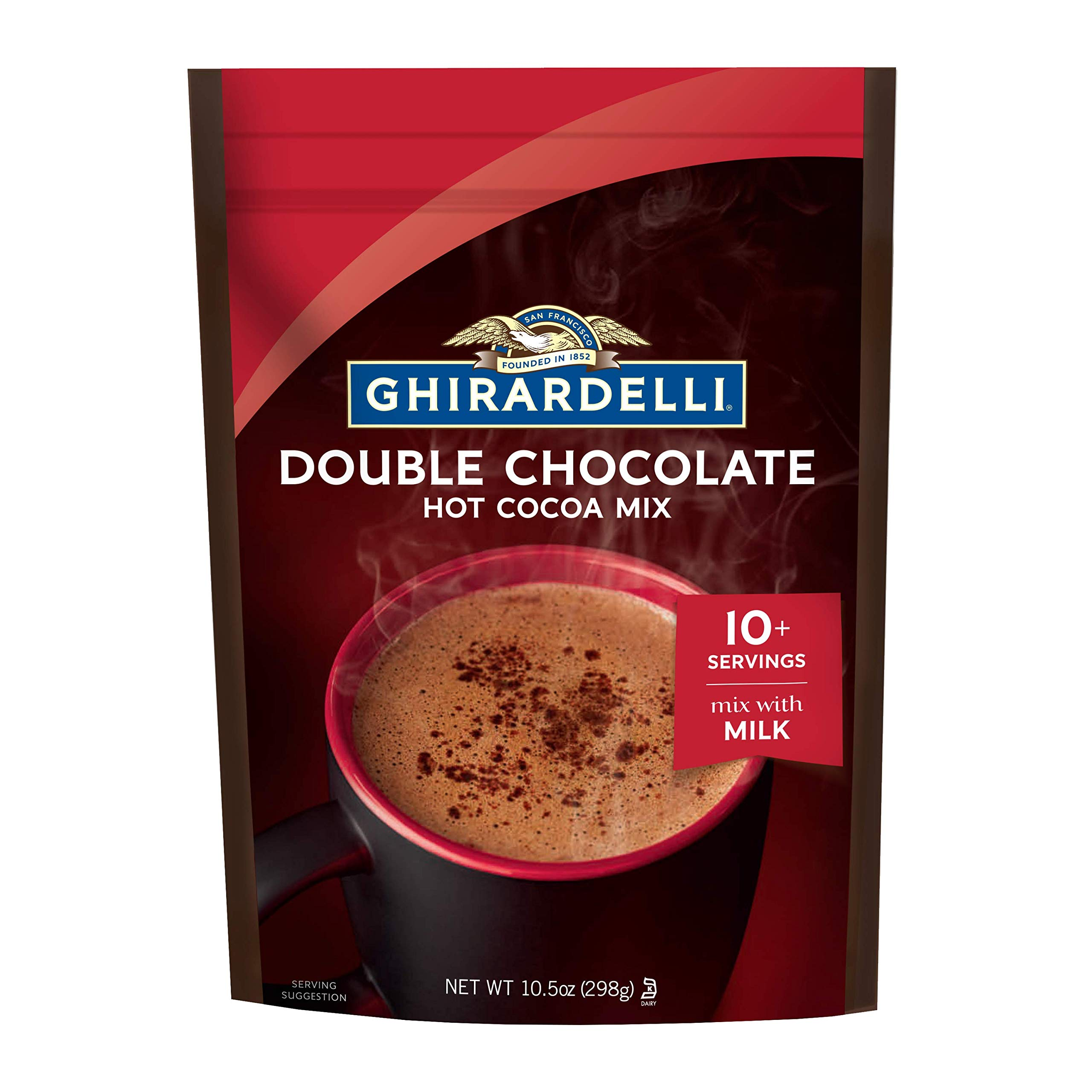 Ghirardelli Double Chocolate Premium Hot Cocoa, 10.5 oz.