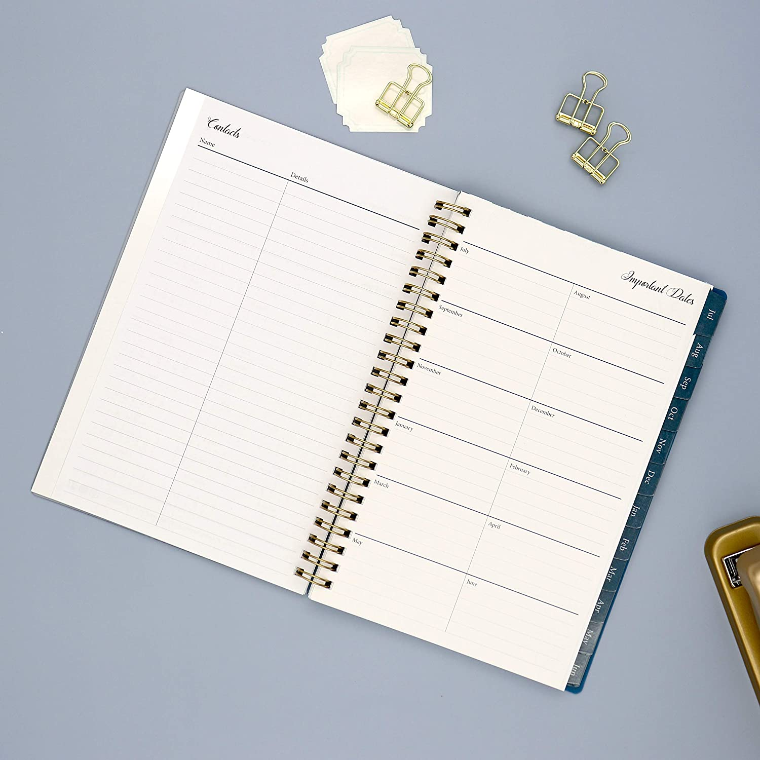 "Blue Sky 2020-2021 Academic Year Weekly & Monthly Planner, Flexible Cover, Twin-Wire Binding, 5"" x 8"", Bakah Blue : Office Products"