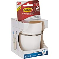 Command BATH38-SN-ES Bath Accessory Organizer, Satin Nickel