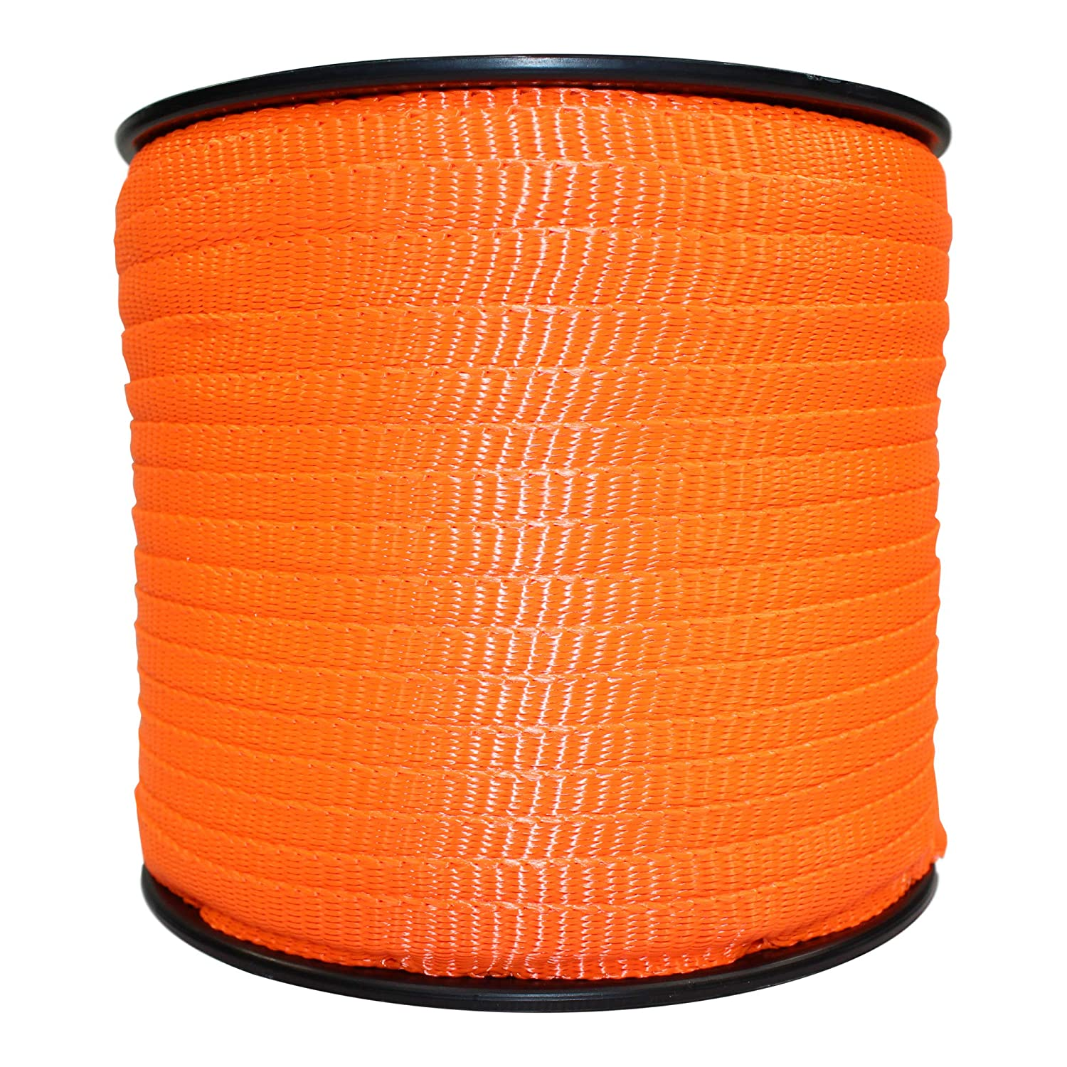 Flat Rope Durable Polyester Pull Tape Strap Gardening - SGT KNOTS Arborist Commercial 5//8 inch Oil Resistant Rot 300 ft - Orange Marine Utility Polyester Webbing Moisture UV
