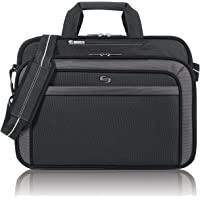 SOLO Sterling Laptop Slim Brief Case Holds Notebook Computer up to 15.6 Inches