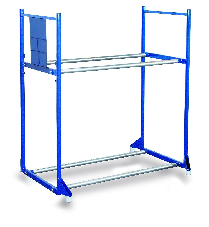 1145 x 395 mm RAL 5010 Enzianblau Reifenregal mit 2 Etagen Traglast kg 300 Ladefl/äche