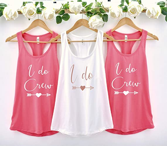 97a9084258 I Do Crew Bachelorette Party Shirts, Custom Bride Bridesmaid Tank ...
