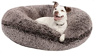 product image for BESSIE AND BARNIE Signature Frosted Willow Luxury Shag Extra Plush Faux Fur Bagel Pet/Dog Bed