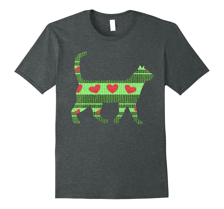 Christmas Cat Sweater Design Novelty T-Shirt-Art