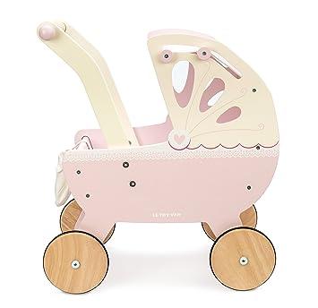 Le Toy Van Beautiful Wooden Honeybake Sweet Dreams Doll Toy Pram Pastel Pink