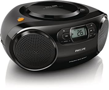 Philips AZ320 - CD Soundmachine (reproduce CD, MP3-C y USB, FM), color negro: Philips: Amazon.es: Electrónica