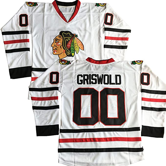 newest 33a8a 474cd #00 Clark Griswold X-Mas Christmas Vacation Movie Stitched Hockey Jersey