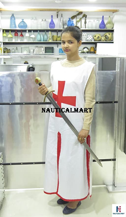 Disfraz de Halloween para mujer de medieval templario Knight Tunic ...