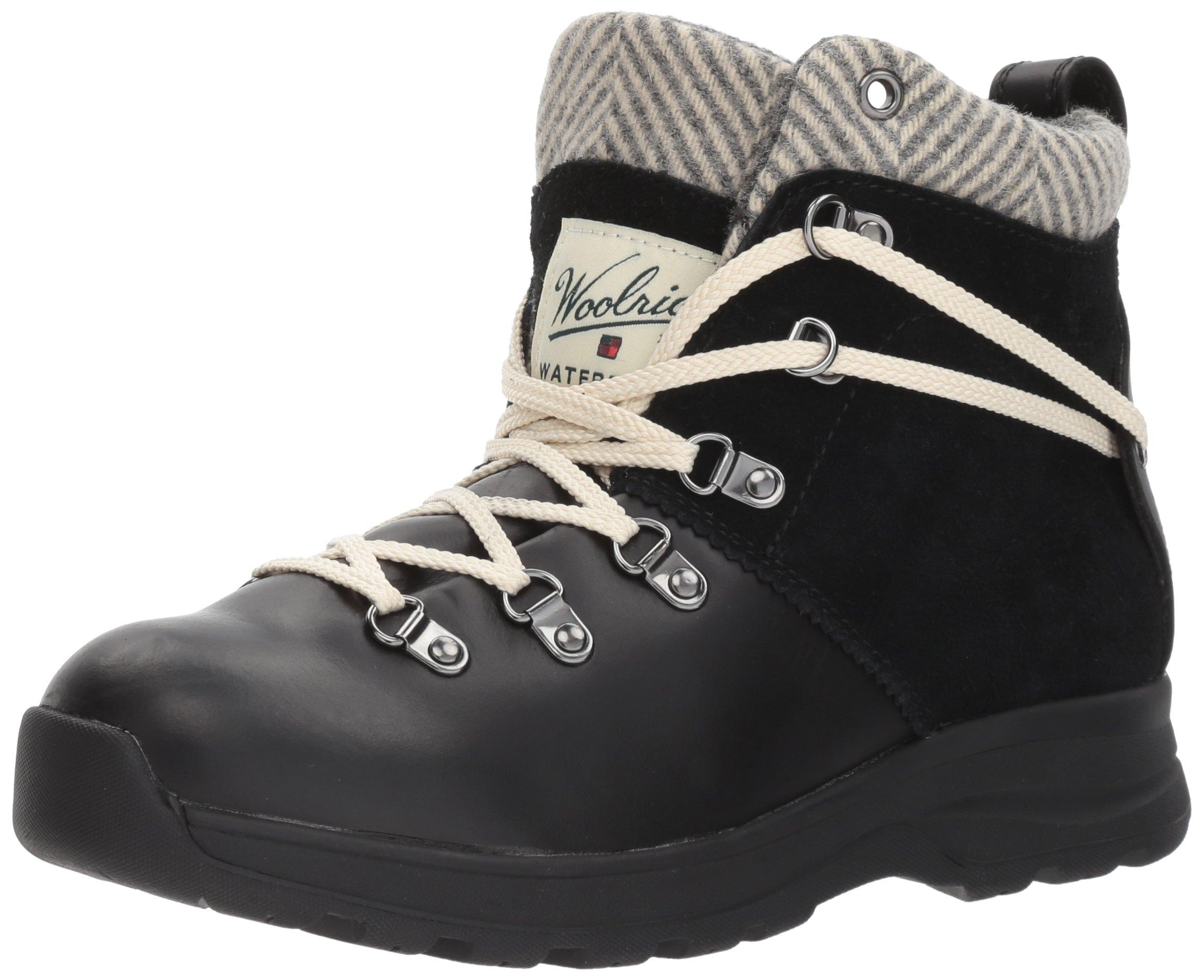 Woolrich Women's Rockies Ii Winter Boot, Black/Herringbone, 8.5 M US