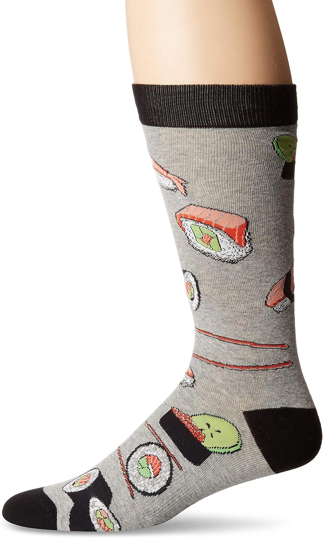 K. Bell Socks mens Food and Drink Casual Novelty Crew Socks
