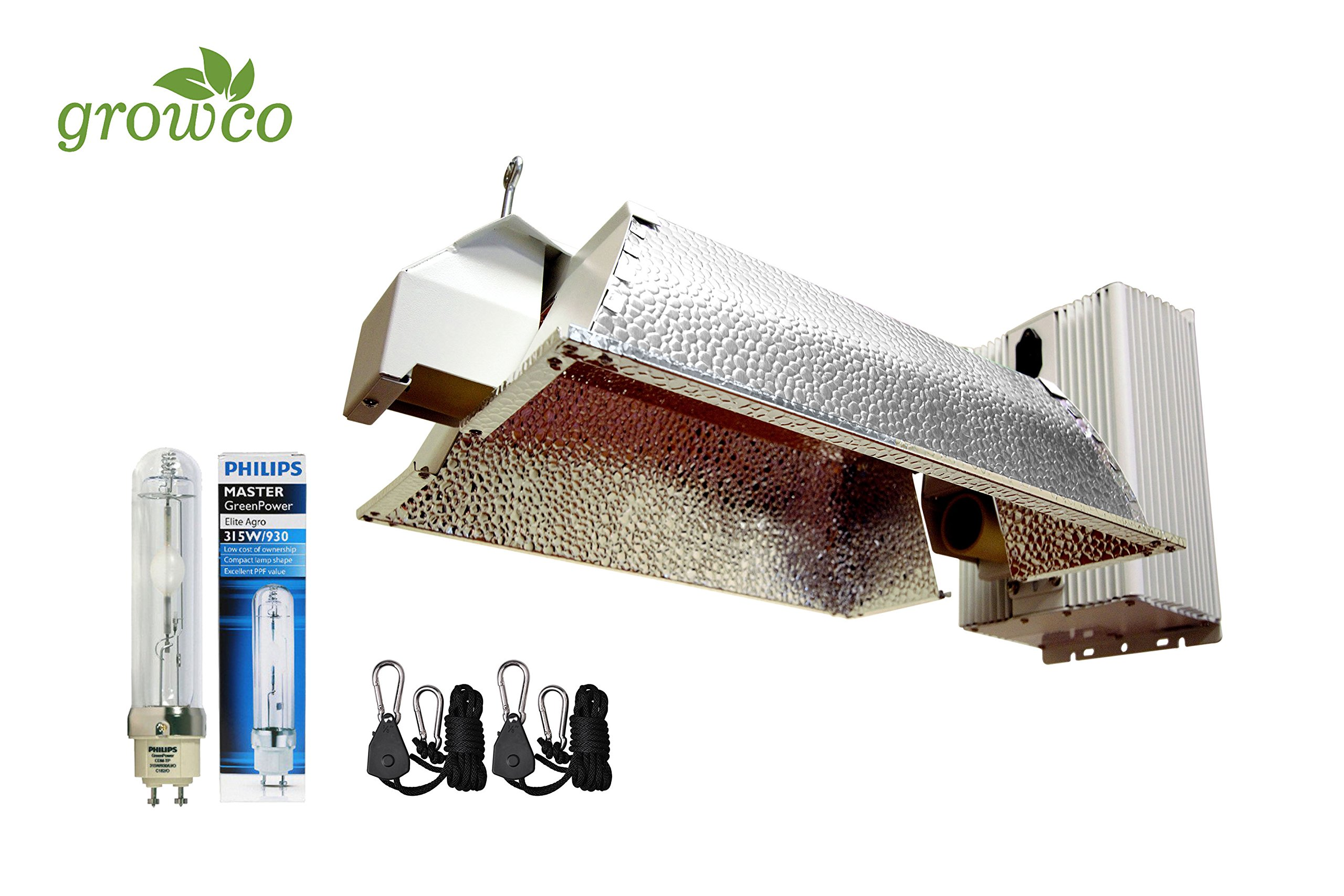 Grow Co. 630W Ceramic Metal Halide CMH System w/ Philips 3100K Full Spectrum Bulb 240V Plug Included