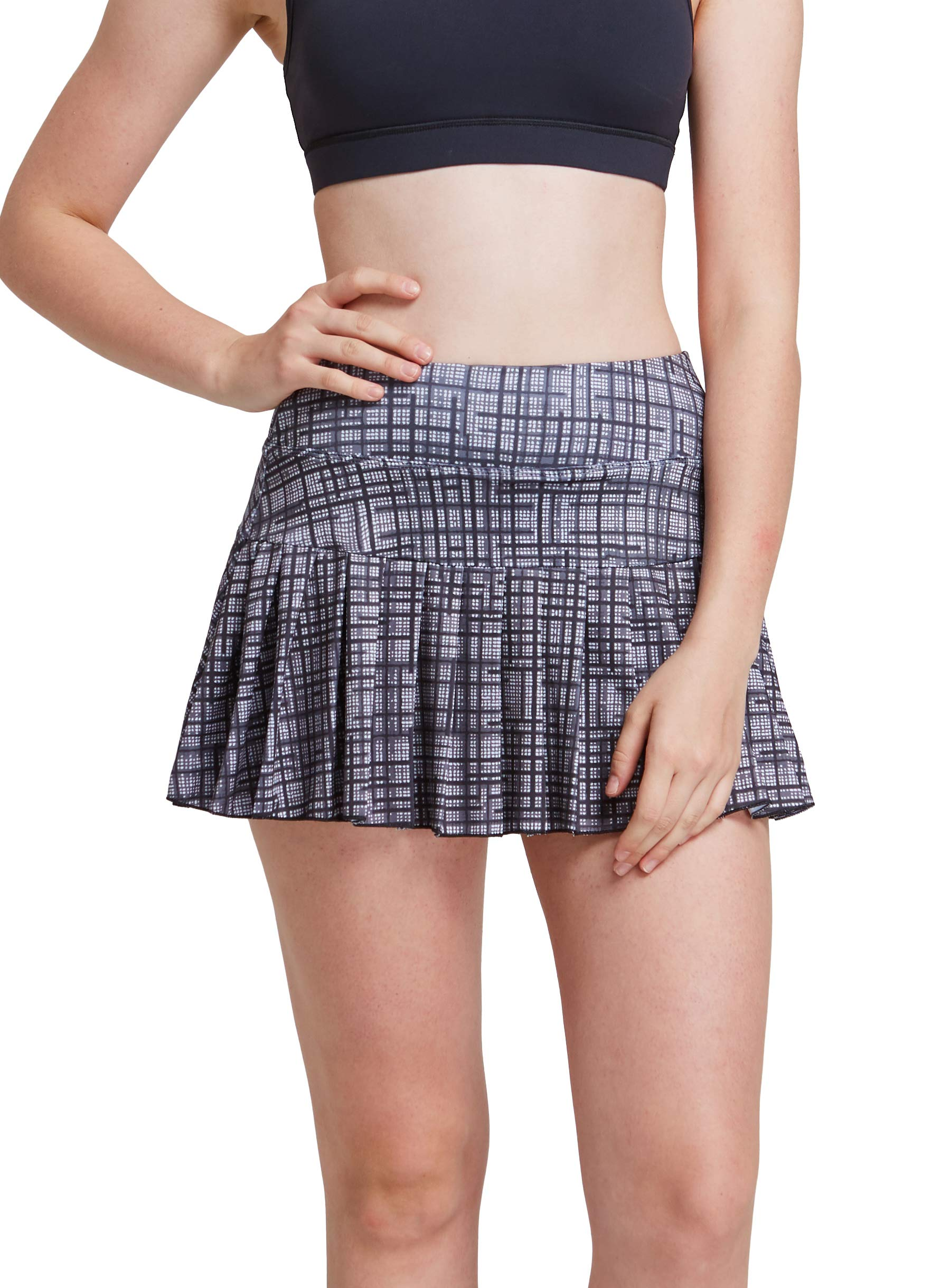 Womens Tennis Pleated Skorts Golf Workout High Waist Biult in Skirts Sports Active Wear with Pockets by HonourSex