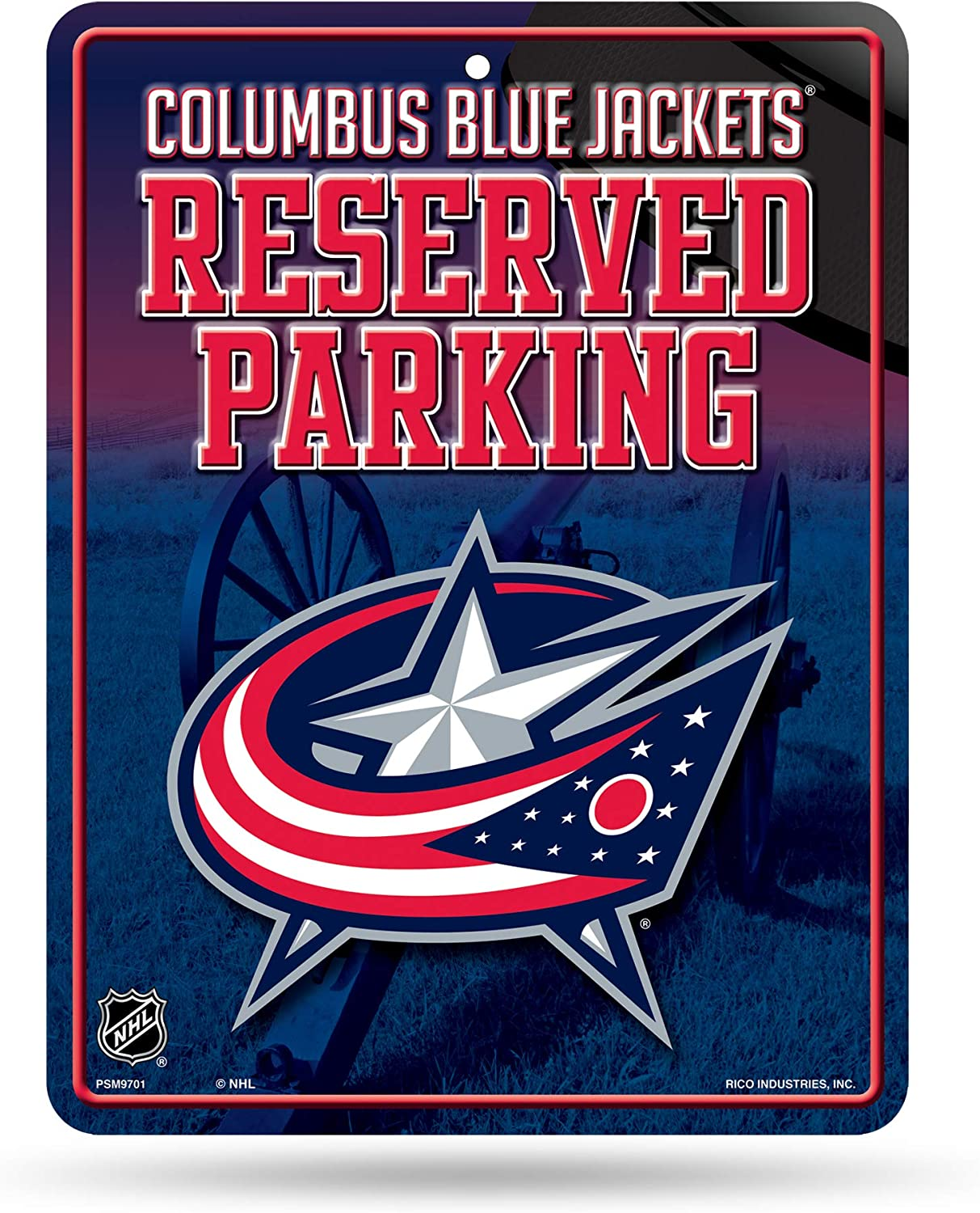 Rico Industries NHL Arizona Coyotes 8-Inch by 11-Inch Metal Parking Sign Décor