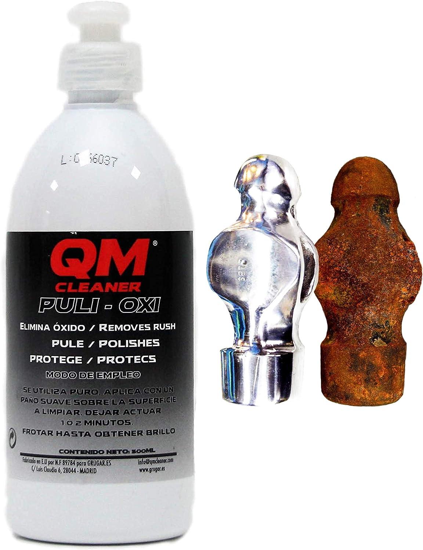 PULI-OXI Limpiador de óxido Rápido y Eficaz. Protector de metales. Elimina óxido de llantas, frenos, radiadores, cromados, cadenas, contactos electrónicos…