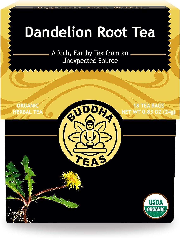 Organic Dandelion Root Tea – 18 Bleach-Free Tea Bags – Caffeine-Free Tea with a Rich, Earthy Taste, Natural Source of Vitamins, Minerals