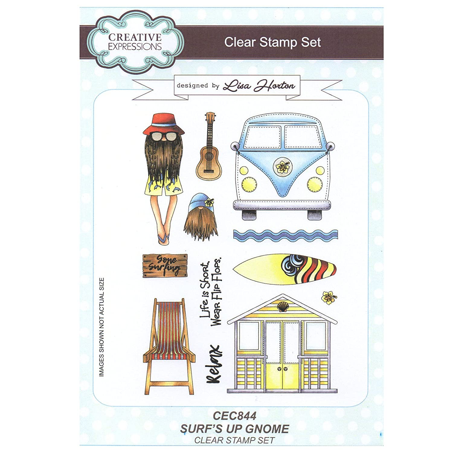 Creative Expressions Polymer Stamp Set, A5 CEC844