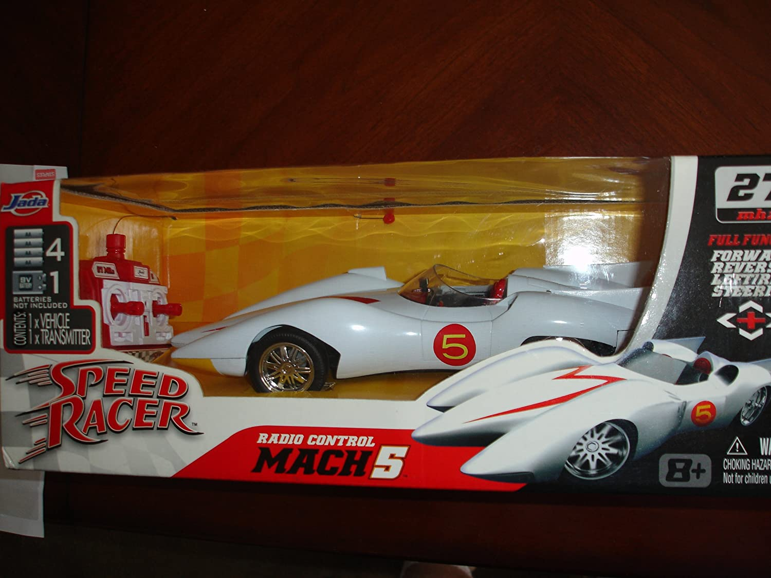 Amazon com jada speed racer mach 5 remote control 118 scale car everything else
